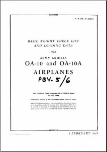 Basic Weight and Balance OA-10-A PBY -5-6