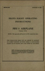 Pilots Flight Operating Instructions PBY-5